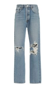 Agolde 90s High Rise Straight Leg Jeans Medium Wash What to Buy for Fall 2021