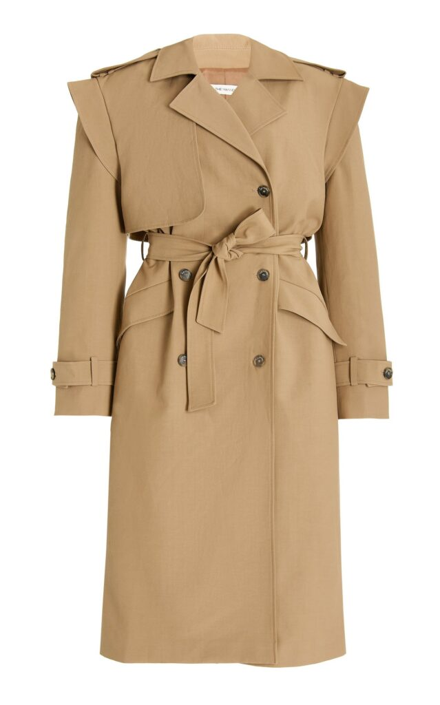 The Mannei Oversized cotton blend trench coat fall 2021 fashion trends