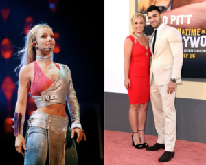 Framing Britney Spears documentary outfits red carpet style engagement 2021