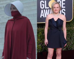 Elisabeth Moss June Osborne Offred The Handmaids Tale Red cloak outfit