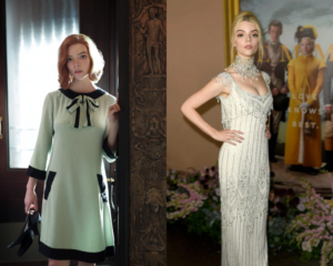anya taylor joy the queen's gambit red carpet outfits 2021