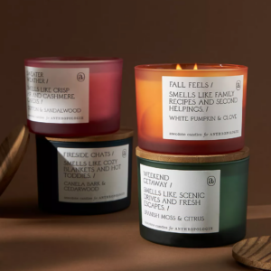 Anecdote Autumn Glass Candles Best Fall Scents