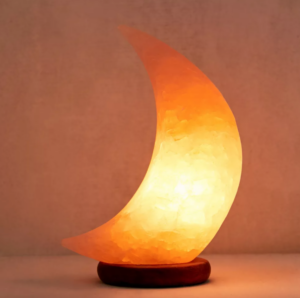 Moon Shaped Salt Lamp Autumn Home Decor Ideas Fall Lighting Solutions Small Spaces